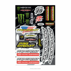 2014 PRO CIRCUIT DELUXE DECAL SHEET