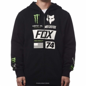 '17 FOX MONSTER UNION ZIP-UP HOODY, SMALL