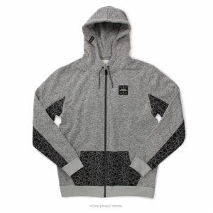 P/C STATIC ZIP HOODY SWEATSHIRT, SMALL